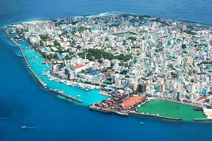 Malé, the capital city of the Maldives