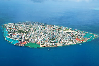 Male' from top - the capital island