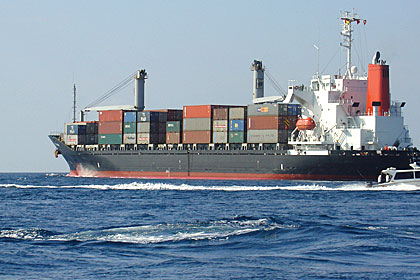 A Cargo Ship - Maldives highly depends on imports