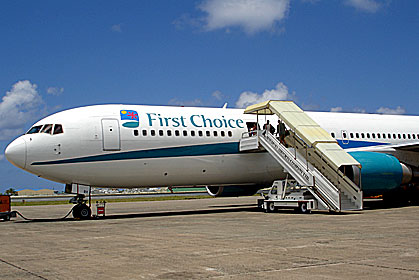 First Choice Airline at Male' Airport  Maldives