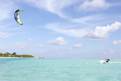 Kite Surfing in the Maldives