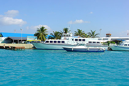 Maldivians & Tourists rely on Sea transport